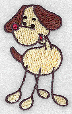 Embroidery Design: Dog 2.21w X 3.50h