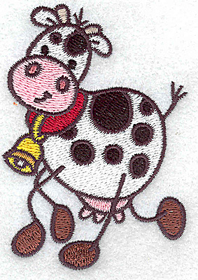 Embroidery Design: Cow 2.48w X 3.48h