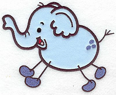Embroidery Design: Elephant applique 6.35w X 4.95h