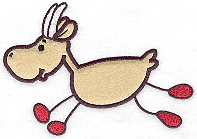 Embroidery Design: Goat applique 6.96w X 4.87h