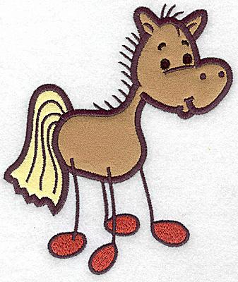 Embroidery Design: Horse applique5.90w X 4.95h