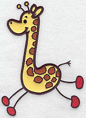 Embroidery Design: Giraffe applique 6.84w X 4.99h