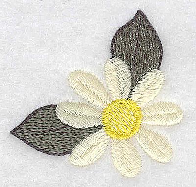 Embroidery Design: Single daisy 2.02w X 1.97h