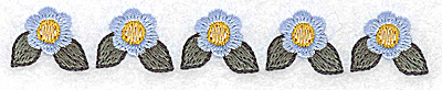 Embroidery Design: Periwinkle row 4.96w X 0.76h