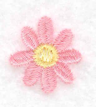 Embroidery Design: Single daisy bloom 0.77w X 0.83h