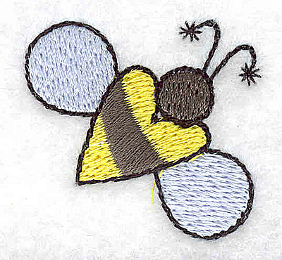 Embroidery Design: Bee large 1.50w X 1.40h