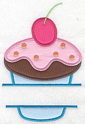 Embroidery Design: Cupcake 2 large four applique 6.82w X 4.56h