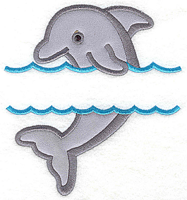 Embroidery Design: Dolphin large applique 5.43w X 4.97h