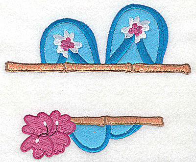 Embroidery Design: Flip-Flops large applique 5.72w X 4.90h