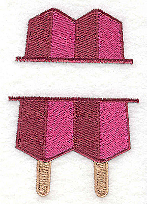 Embroidery Design: Popsicle small 2.34w X 3.40h