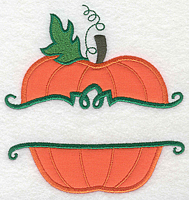 Embroidery Design: Pumpkin large applique 5.22w X 4.98h
