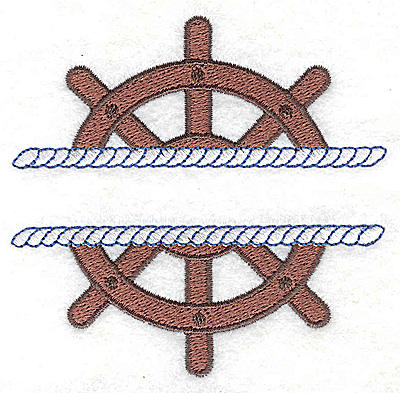 Embroidery Design: Ship's Wheel small 3.63w X 3.52h