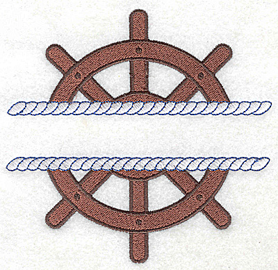 Embroidery Design: Ship's Wheel large 5.15w X 4.98h