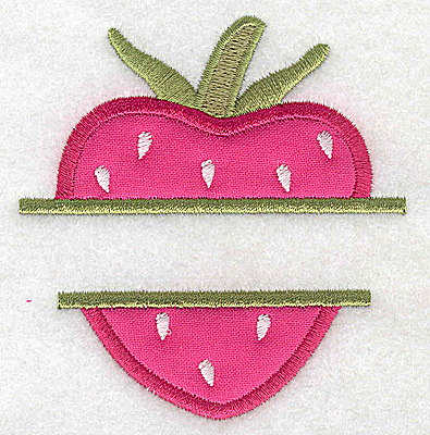 Embroidery Design: Strawberry small applique 3.20w X 3.42h