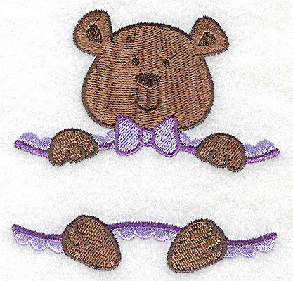 Embroidery Design: Teddy bear small 3.47w X 3.45h