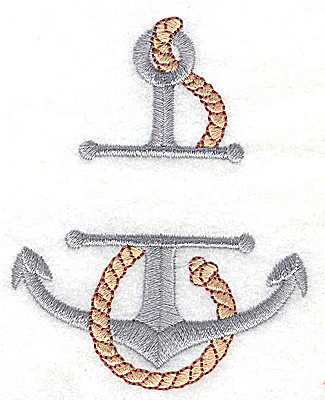 Embroidery Design: Anchor small 2.79w X 3.49h