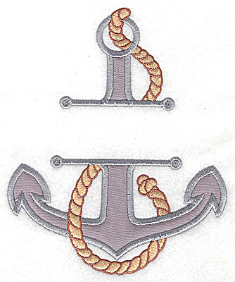 Embroidery Design: Anchor large applique<br> 5.98w X 4.94h