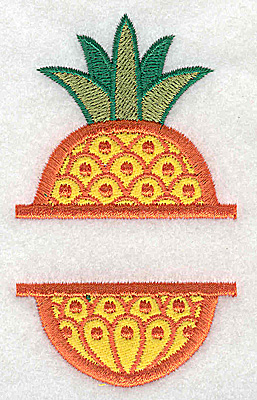 Embroidery Design: Pineapple small applique 2.15w X 3.72h