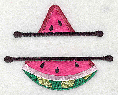 Embroidery Design: Watermelon small applique 3.70w X 2.98h