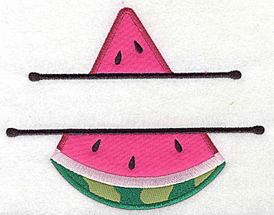 Embroidery Design: Watermelon large double applique 6.20w X 4.93h