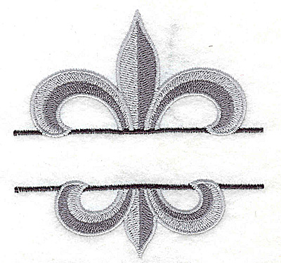 Embroidery Design: Fleur de lis small 3.53w X 3.56h