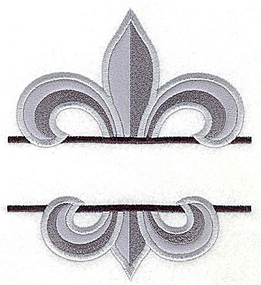 Embroidery Design: Fleur de lis large applique 5.60w X 4.97h