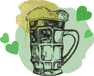 Embroidery Design: St Patricks Drink 9.33w X 7.50h