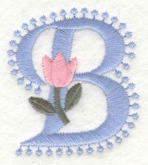 Embroidery Design: B small2.01inH x 1.76inW
