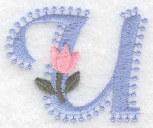 Embroidery Design: U small2.01inH x 2.45w X 2.45h