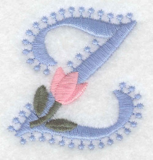 Embroidery Design: Z small2.01inH x 1.88inW