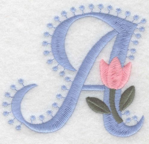 Embroidery Design: A Large3.53inH x 3.83inW