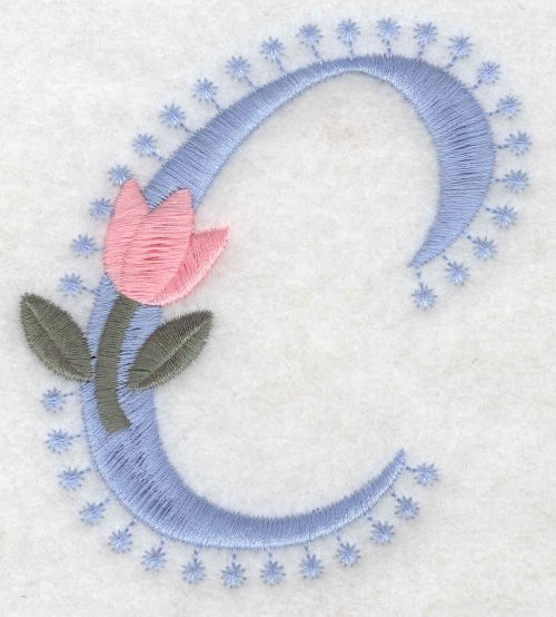 Embroidery Design: C Large3.53inH x 3.06inW