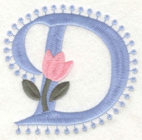 Embroidery Design: D Large3.50inH x 3.63inW