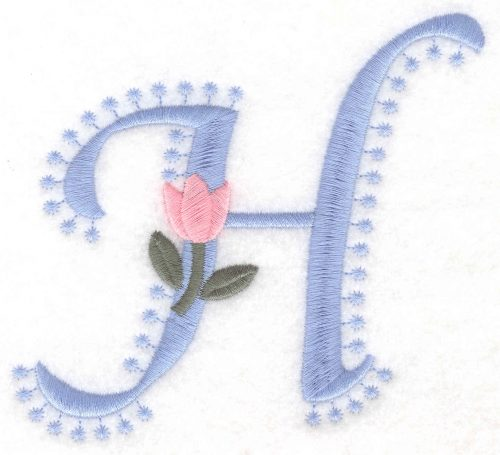 Embroidery Design: H Large4.14inH x 4.60inW