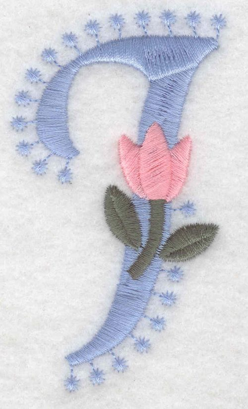 Embroidery Design: I Large3.53inH x 1.99inW