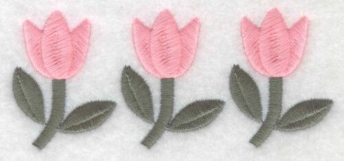 Embroidery Design: Tulip trio1.75inH x 4.03inW