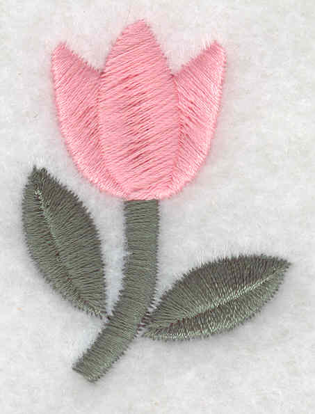 Embroidery Design: Tulip large1.75inH x 1.35inW