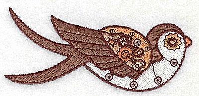 Embroidery Design: Steampunk bird small 3.86w X 1.68h