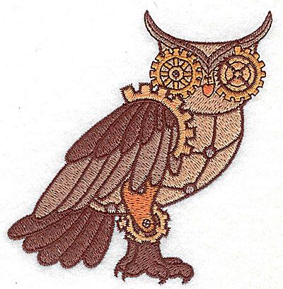Embroidery Design: Steampunk owl small 3.67w X 3.89h
