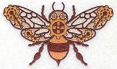 Embroidery Design: Steampunk fly small 3.87w X 2.29h