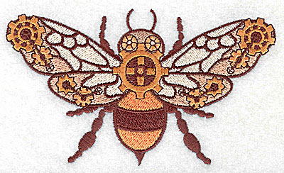 Embroidery Design: Steampunk fly large 4.99w X 2.95h