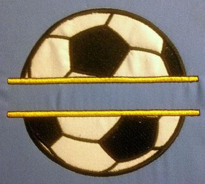 Embroidery Design: Split Applique Soccer Ball Small 5.04w X 4.52h
