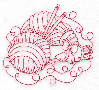 wool redwork design