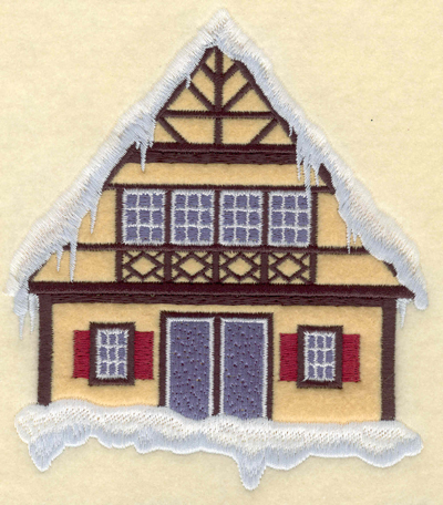 Embroidery Design: Chalet applique5.01w X 5.75h