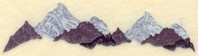 Embroidery Design: Mountain range7.01w X 1.96h