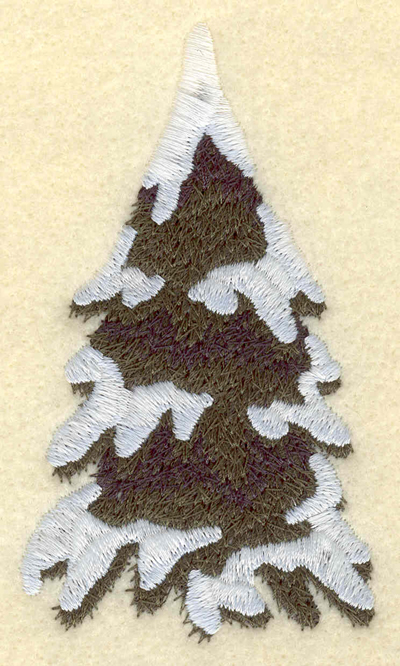 Embroidery Design: Evergreen tree2.21w X 3.90h