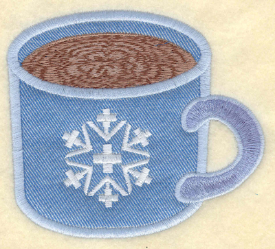 Embroidery Design: Mug with hot chocolate applique3.91w X 3.50h