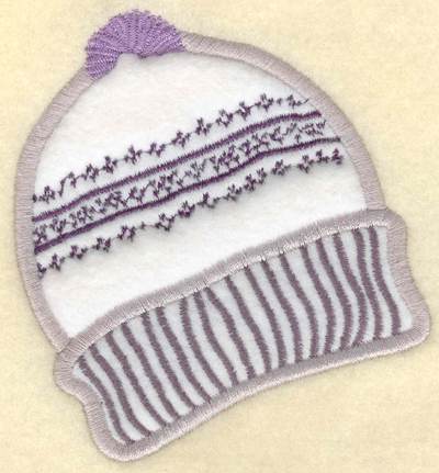 Embroidery Design: Ski hat applique3.64w X 3.91h