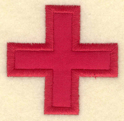 Embroidery Design: Red cross2.30w X 2.26h