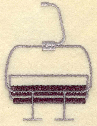 Embroidery Design: Ski lift chair2.90w X 3.91h